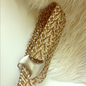 Accessories - Mixed metallics wide belt